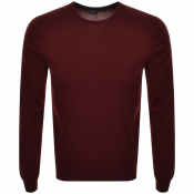 BOSS HUGO BOSS Botto Knit Jumper Burgundy